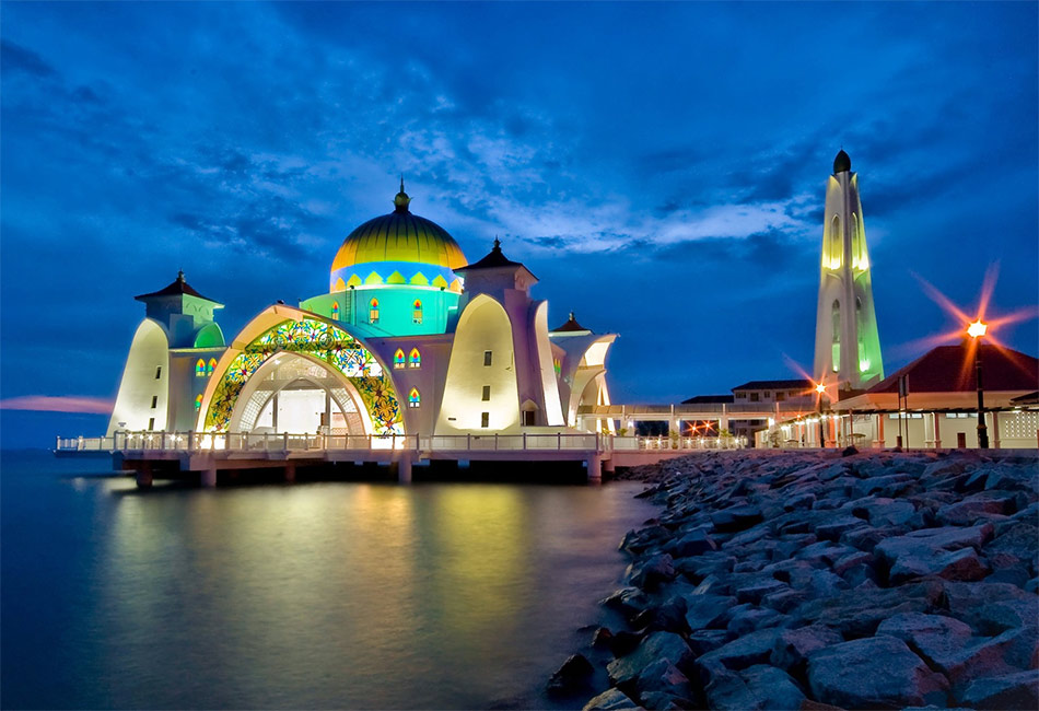Плавучая мечеть в Малакке