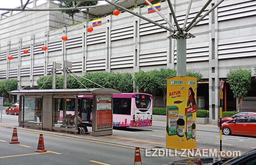 Остановка автобуса GoKL около вокзала KL Sentral