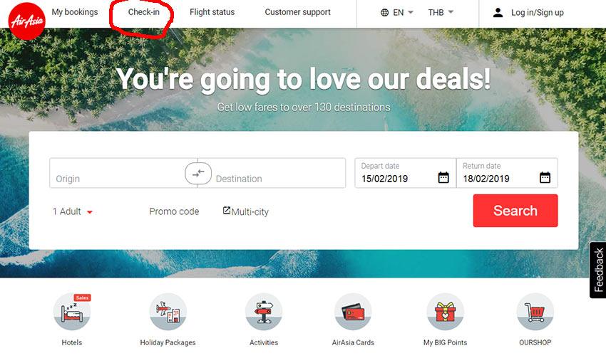 Как сделать регистрацию на рейс AirAsia на сайте airasia.com