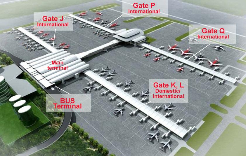 Схема аэропорта KLIA2 в Куала Лумпур