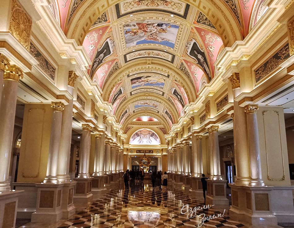 В отеле The Venetian Macao словно в музее. Вход бесплатный!