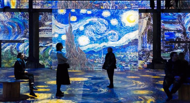 Интерактивная выставка картин в Париже