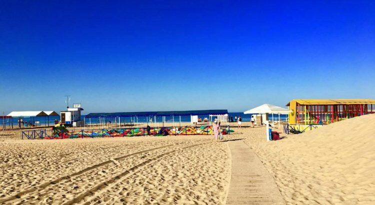 Пляж в Витязево