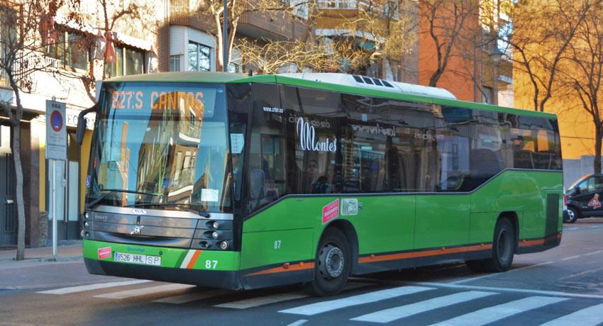 Автобус 827 из аэропорта Мадрида в Трес Кантос и Алькобендас