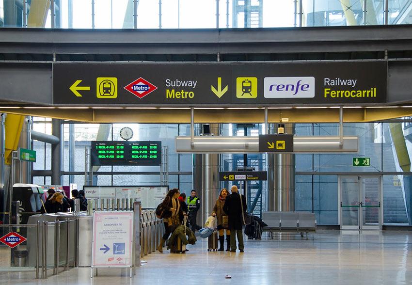 Метро из аэропорта Мадрида