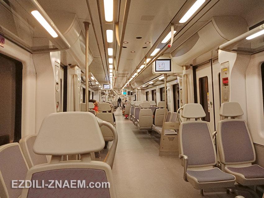 Пригородный поезд (Cercanias) из аэропорта до Мадрида