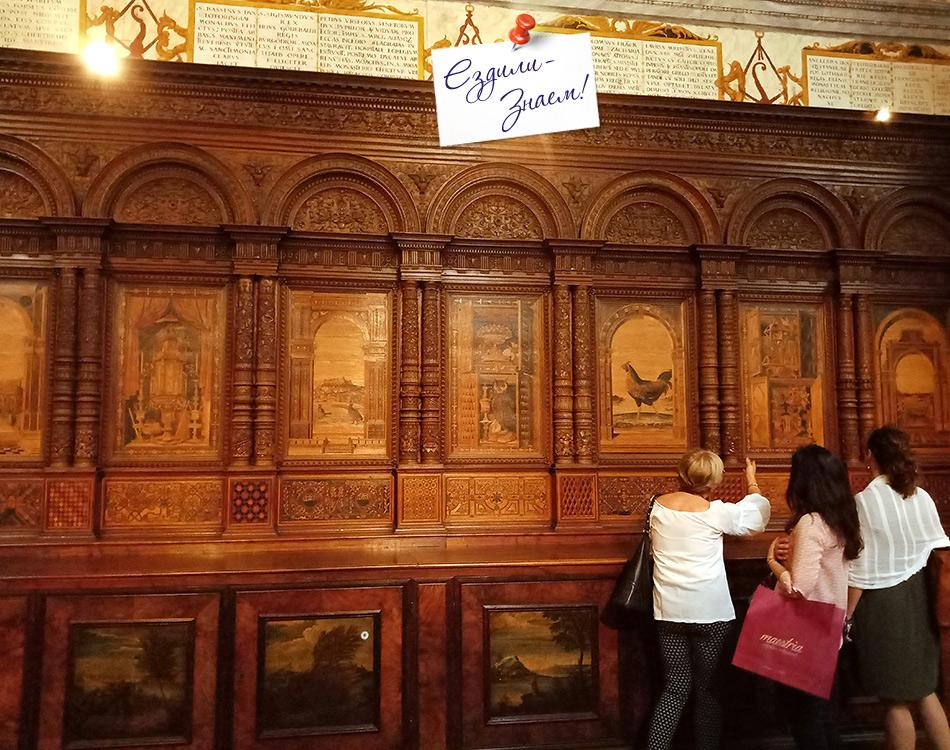 Инкрустация по дереву работы Фра Джиованни в церкви Святой Марии ин Органо