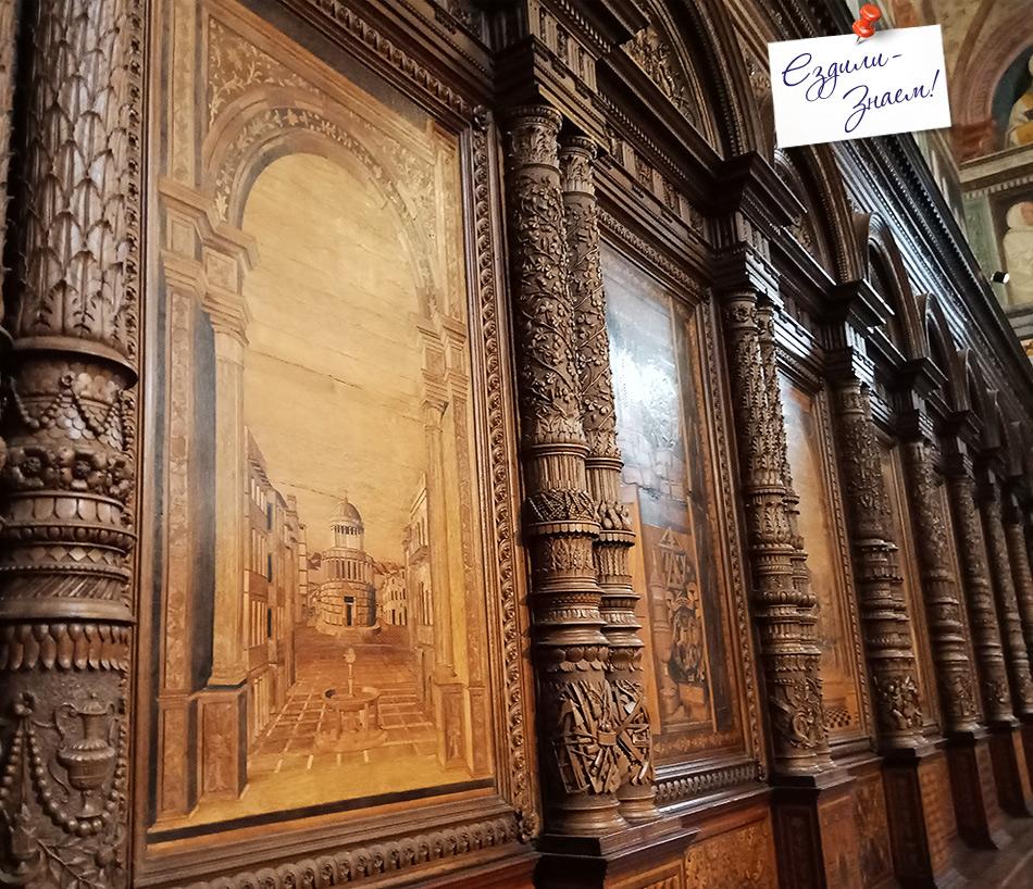 Инкрустации по дереву в церкви Санта Мария ин Органо