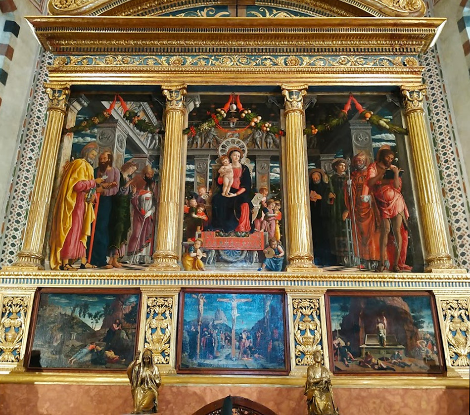«Мадонна на престоле с ангелами и святыми» триптих Андреа Мантеньи