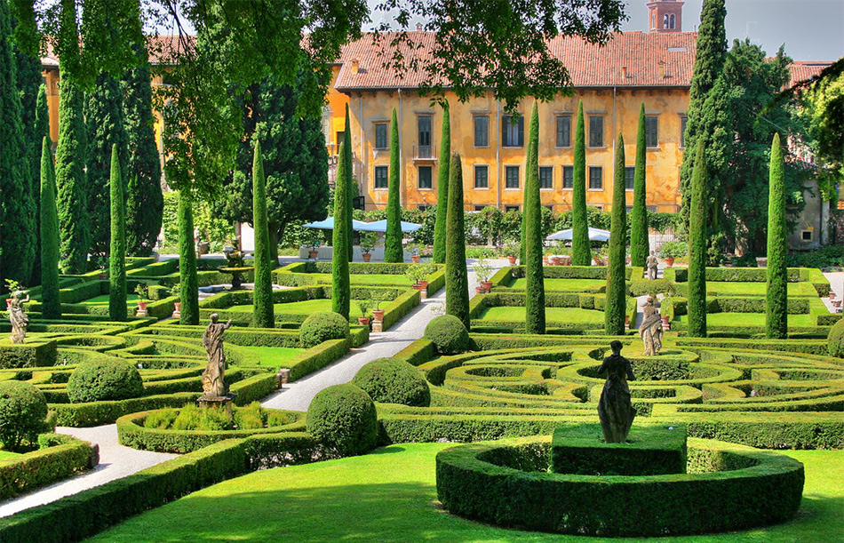 Сад Джусти (Giardino Giusti) в Вероне