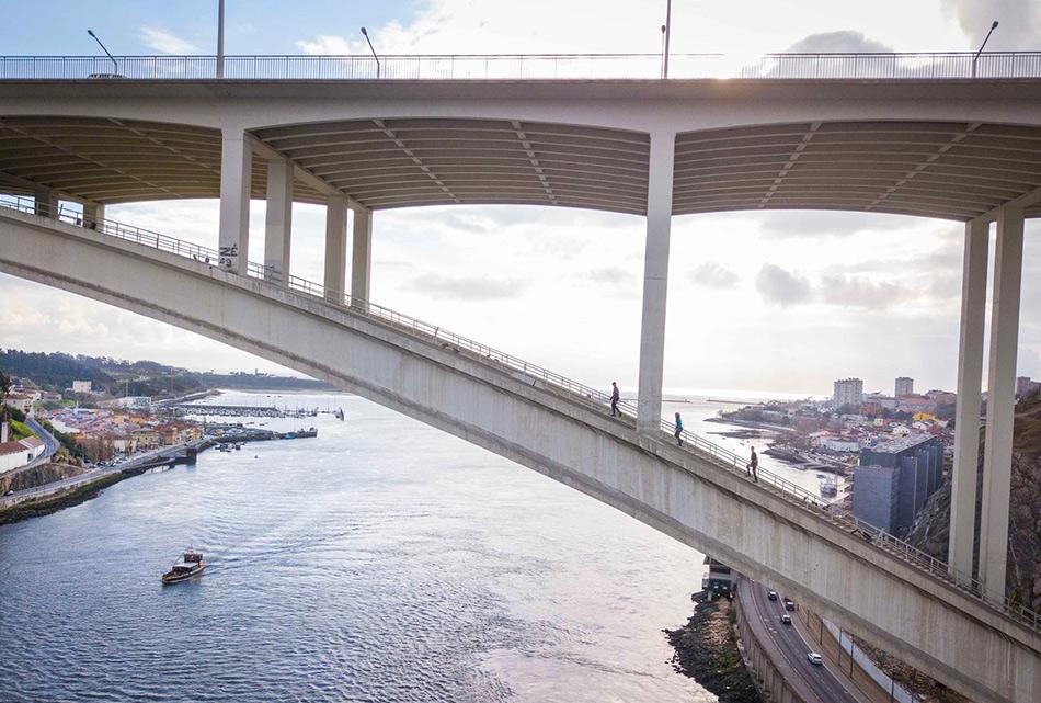 Подьем на мост Аррабида