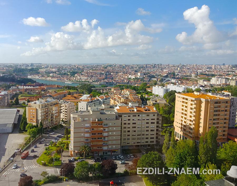 Вид из окна отеля Holiday Inn, Порто