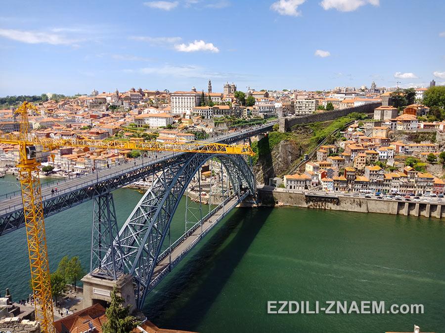 Вид на мост Луиша I в Порту