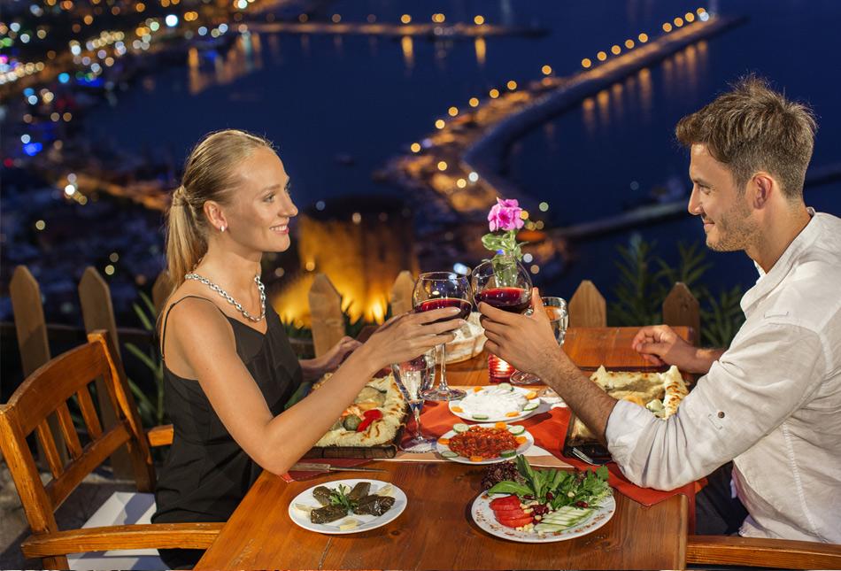 Ресторан на горе в Алании