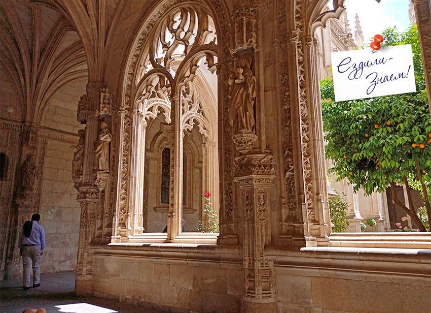 Внутри монастыря Сан-Хуан в Толедо