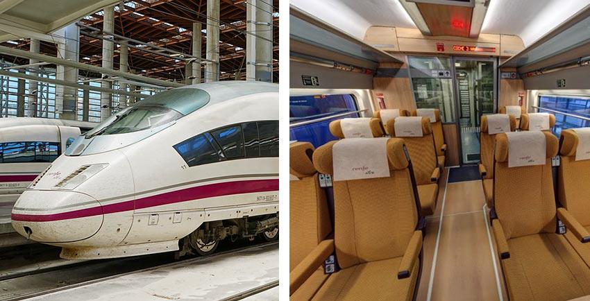 Высокоскоростной поезд AVE в Испании