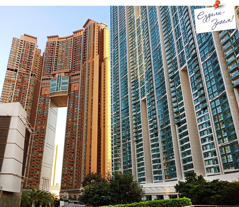 Улицы Гонконга: жилые дома