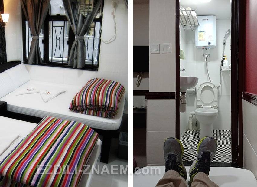 Комната в гонконгском хостеле