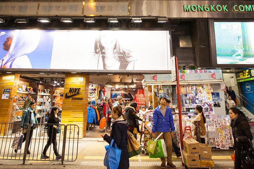 Шоппинг в районе Монгкок