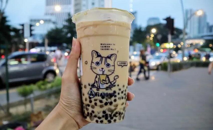 Вкусный тайваньский чай с молоком в Куала Лумпур