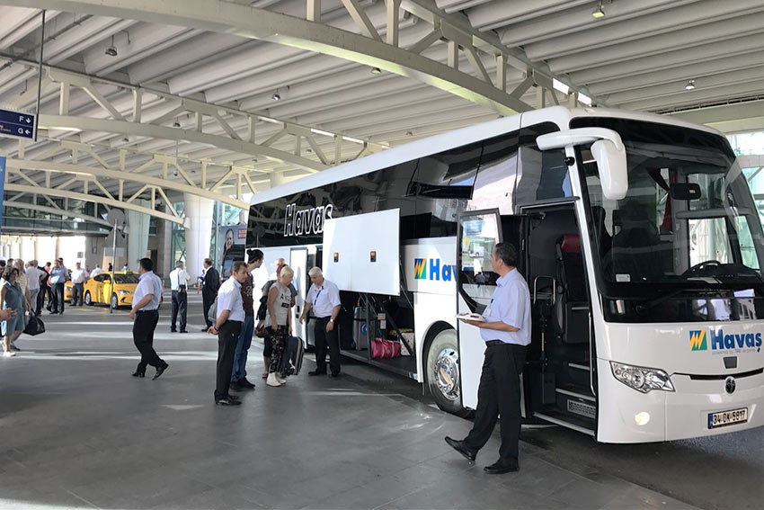 Автобусы компании Hava из аэропорта Измира до кушадасы
