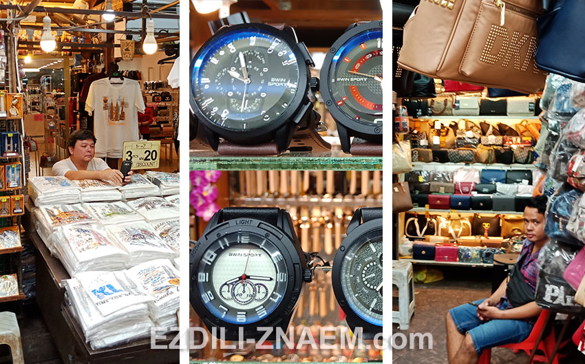 Шопинг на рынке Петалинг-стрит в Чайнатауне Куала Лумпур