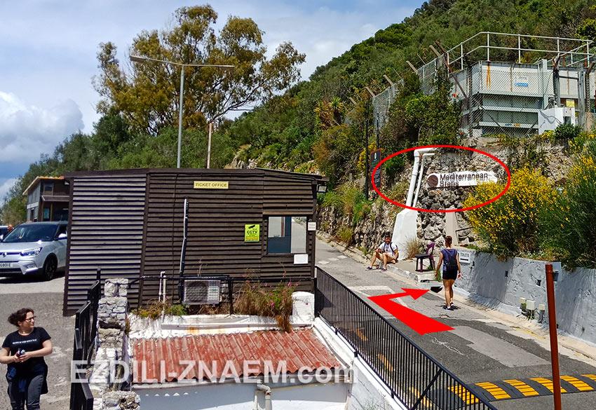 """Вход на тропу """"Средиземноморские ступени"""" в Гибралтаре"""