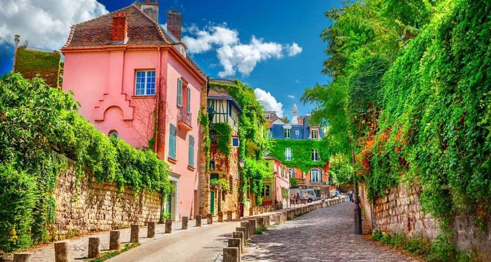 Виртуальная онлайн экскурсия по Парижу: Rue de l'Abreuvoir - улица на Монмартре