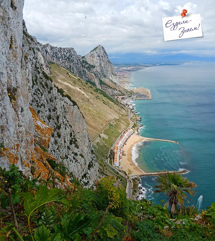 Вид на восточный берег Гибралтара