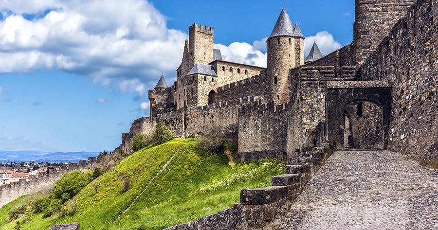 Замок в Каркасоне, Франция