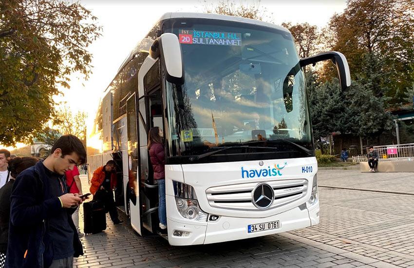 Автобус HavaIST из нового аэропорта Стамбула