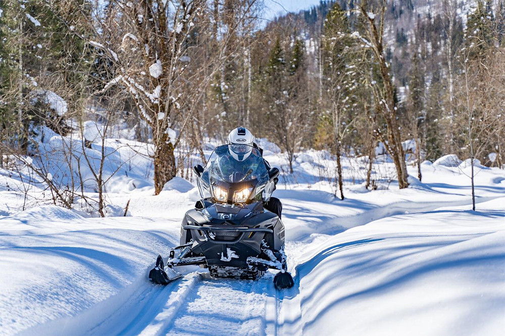 Катание на снегоходе - вот что делать на Алтае зимой!