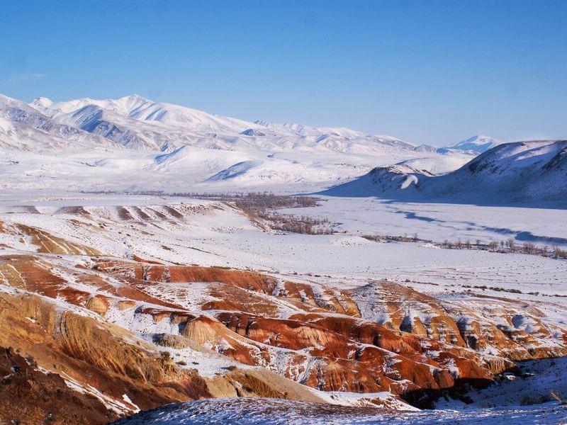 Марсианские горы зимой