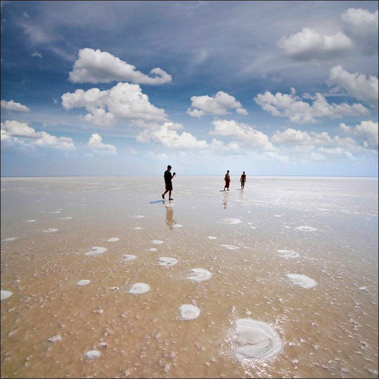 Неземные пейзажи соленого озера Эльтон