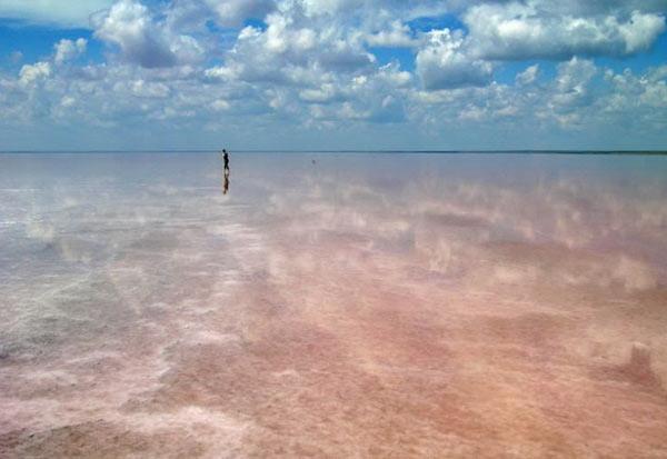 Пейзаж острова Эльтон