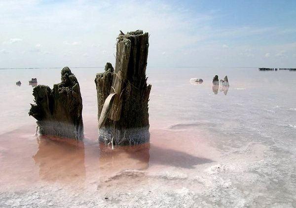 Странные ландшафты озера Эльтон