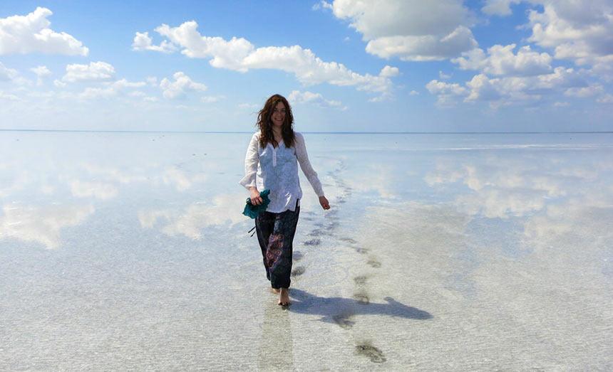 Прогулка по соленому озеру