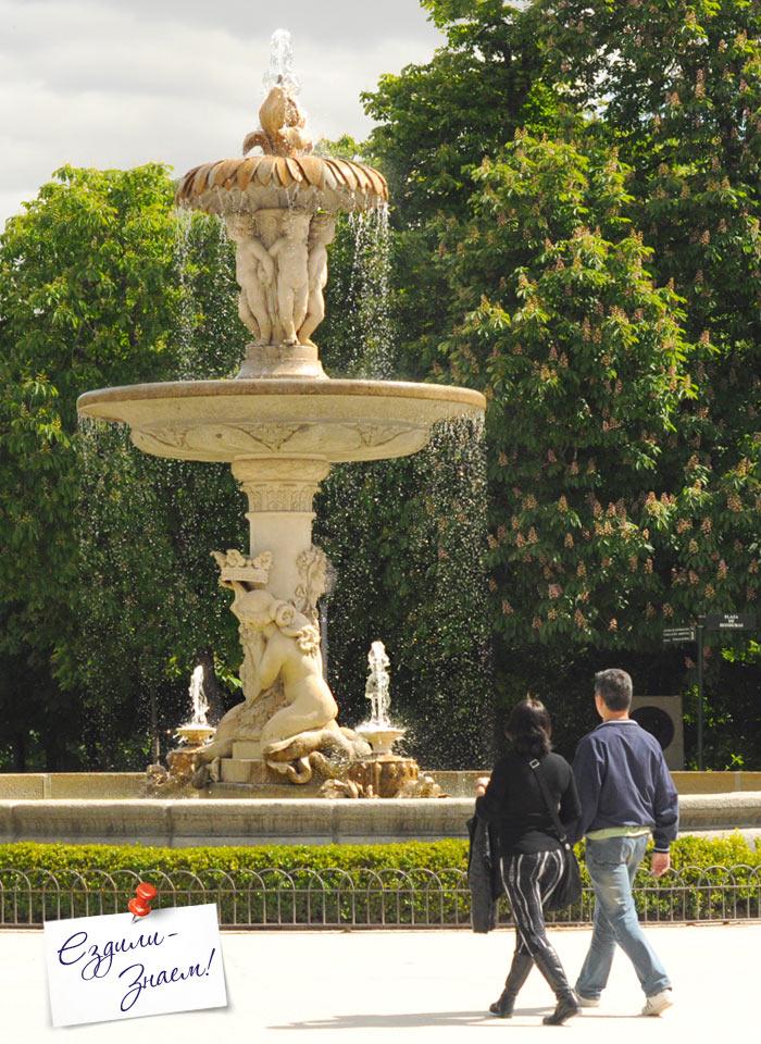 Фонтан в парке Ретиро, Мадрид