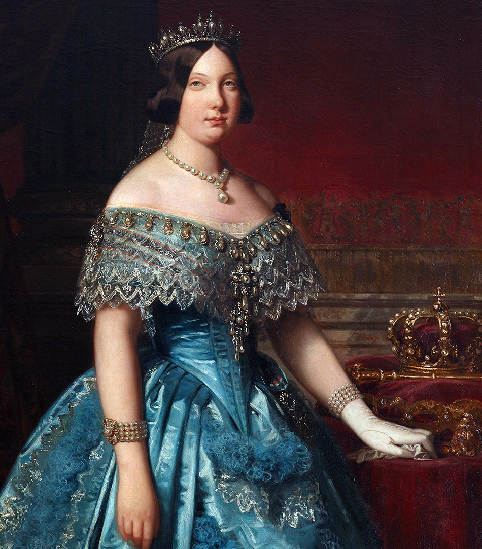 Портрет королевы Изабеллы II (1849, Федерико Мадрасо)