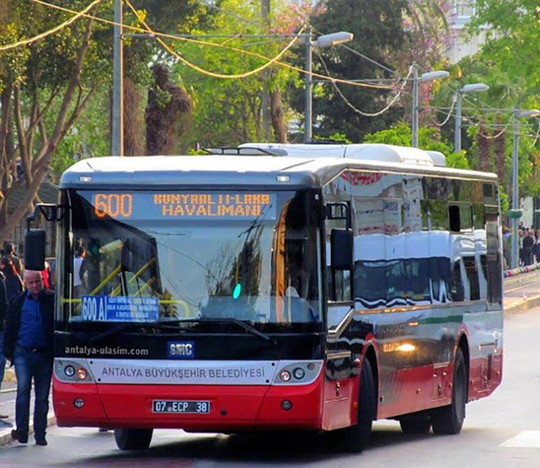 Автобус 600 из аэропорта Антальи