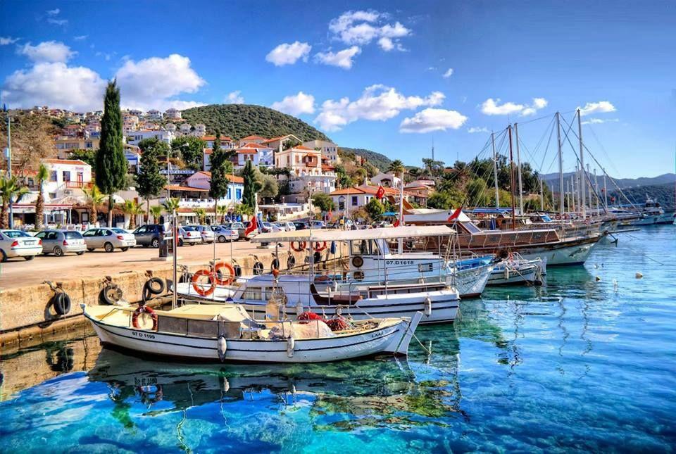 Город Каш в Турции