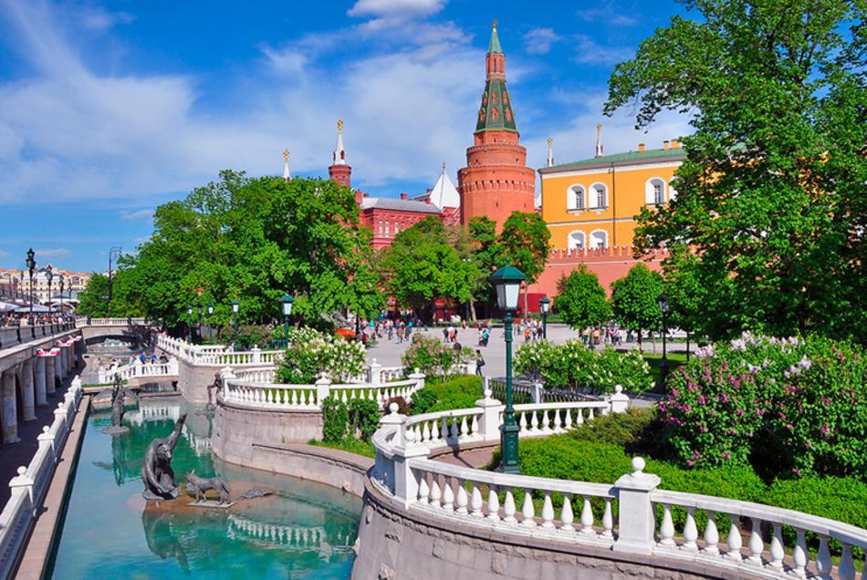 Центральные достопримечательности Москвы: Александровский сад