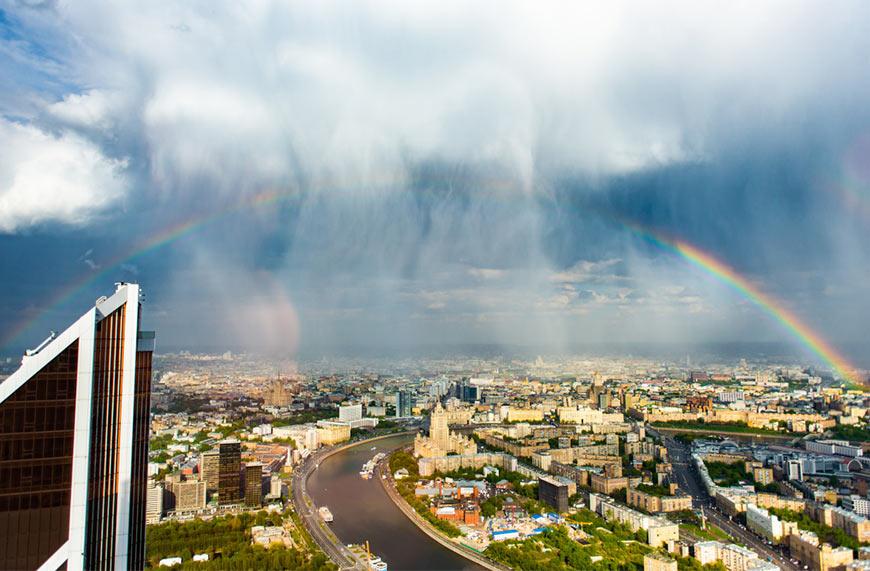 Вид на Москву со смотровой площадки небоскреба