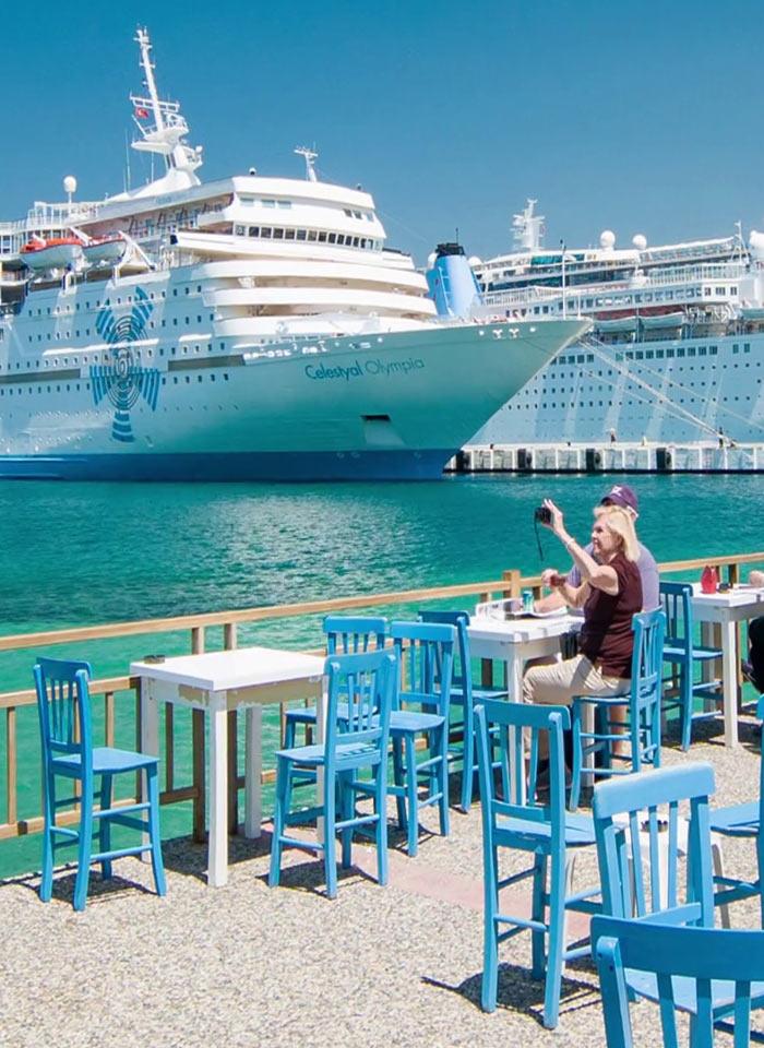 Круизные корабли в порту Кушадасы